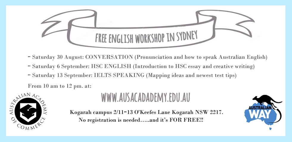 australian academy of commerce, estudiar en australia, inglés gratis, estudiar inglés gratis, escuelas de inglés en sydney, australian way